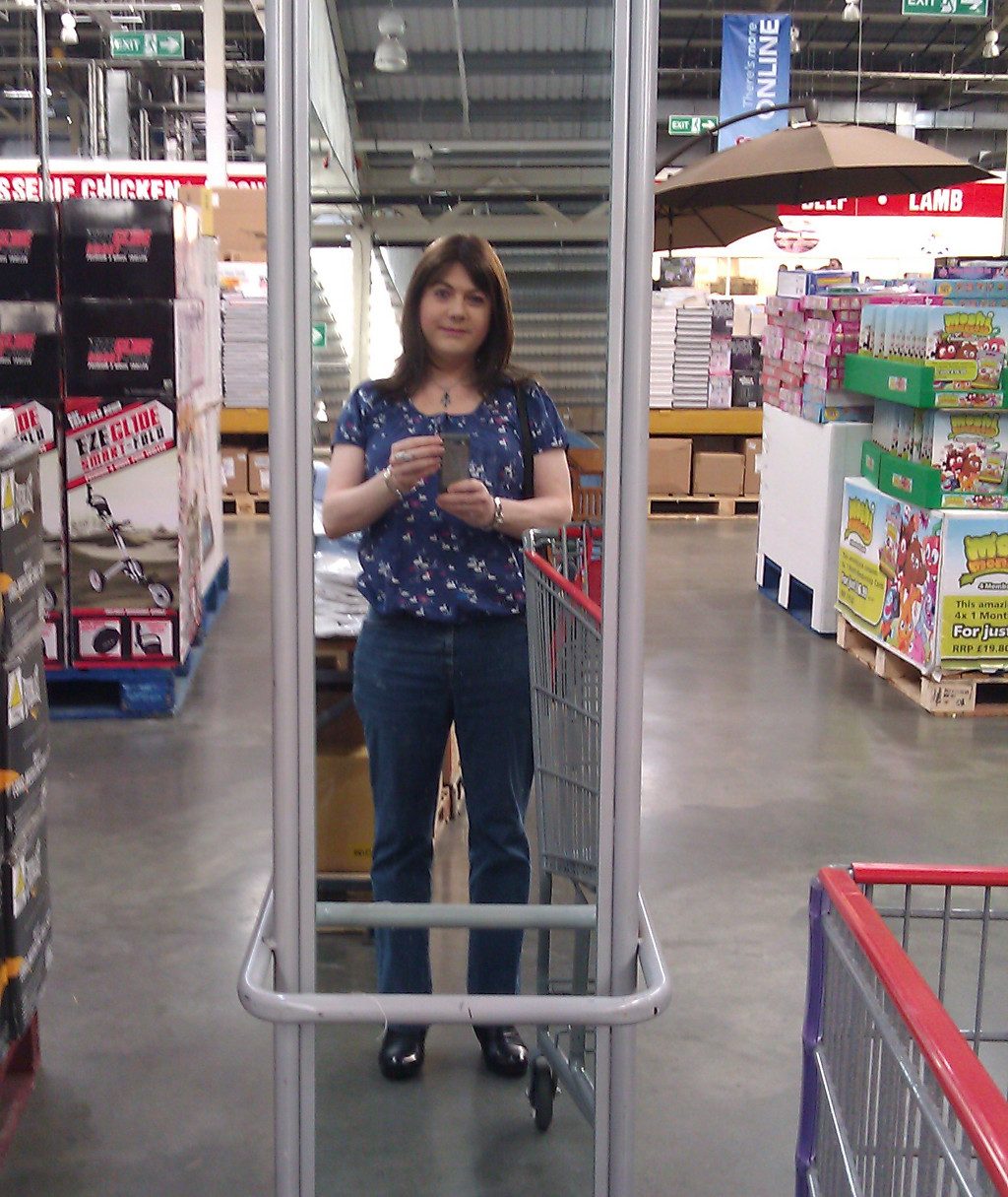 Me, in Costco.