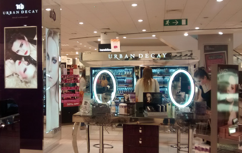 Urban Decay at Debenhams