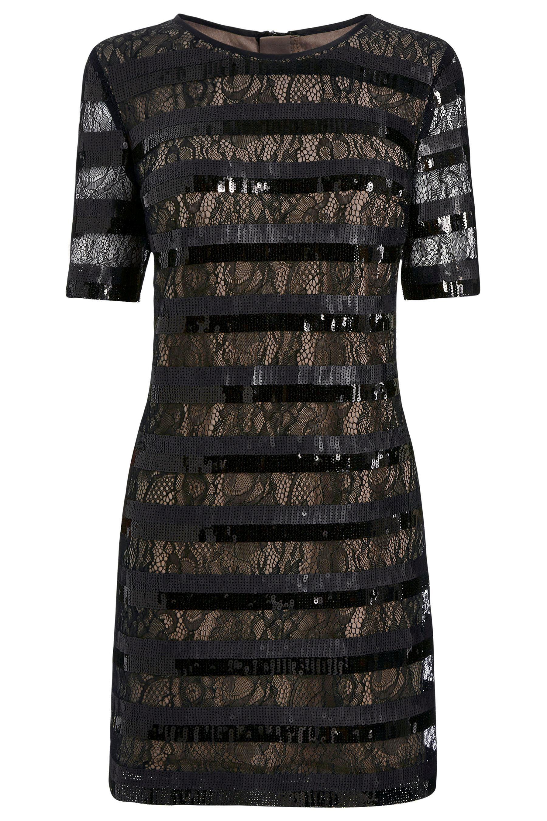 Stripe Sequin Dress by Next
