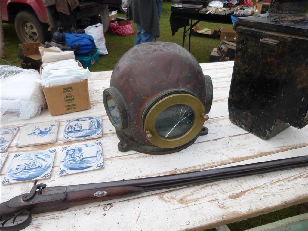 One diver's helmet. Slightly used.