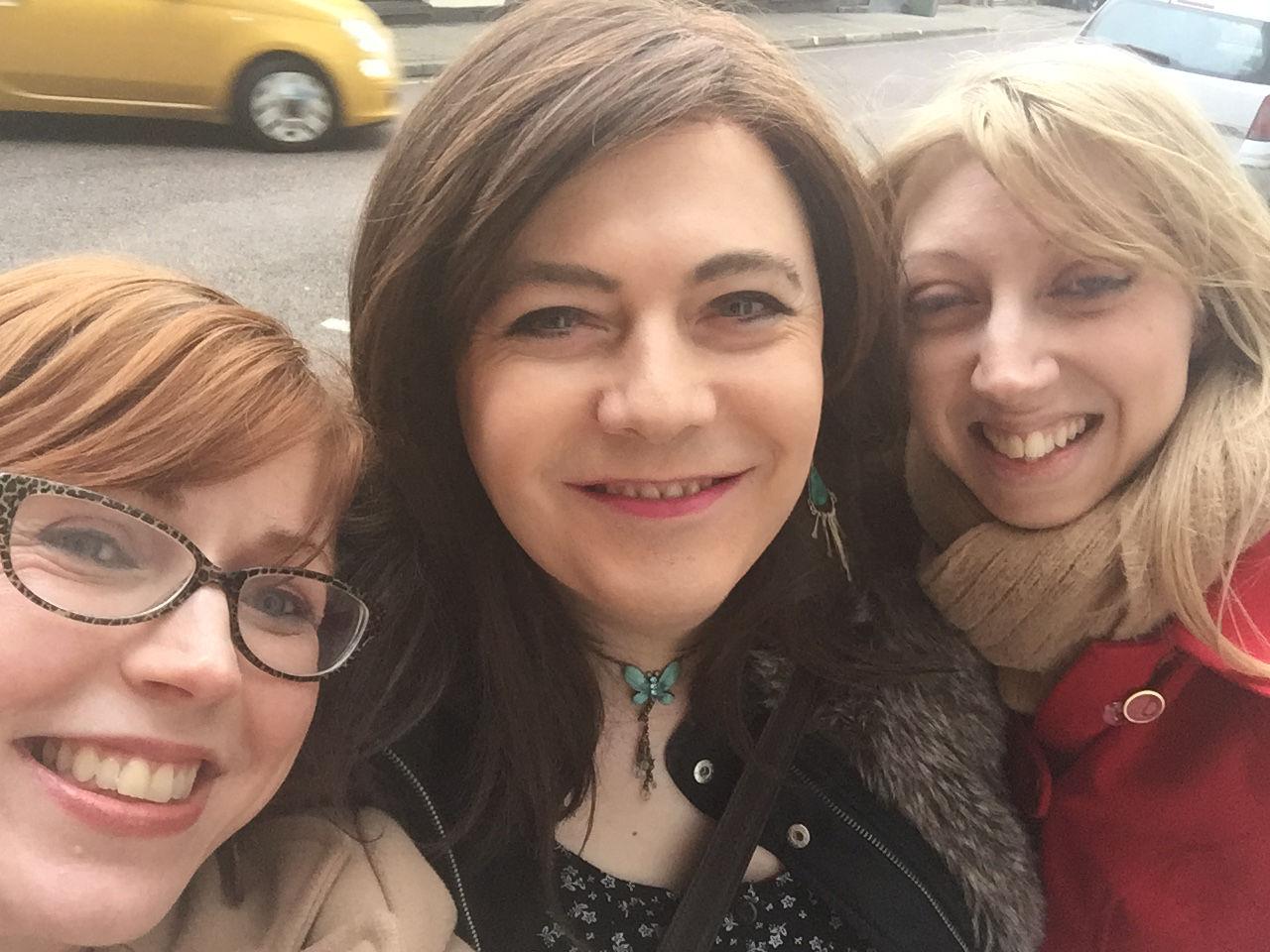 Claire, me, and Rebecca