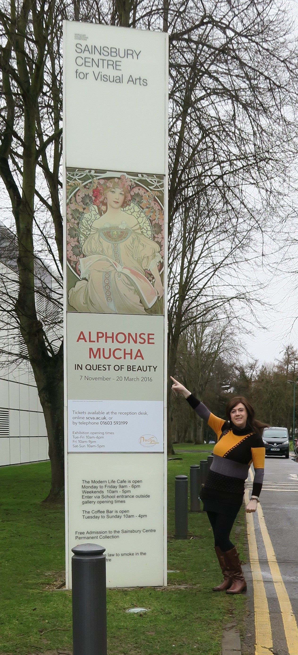 Alfonse Mucha exhibition. Sainsbury Centre for Visual Arts University of East Anglia