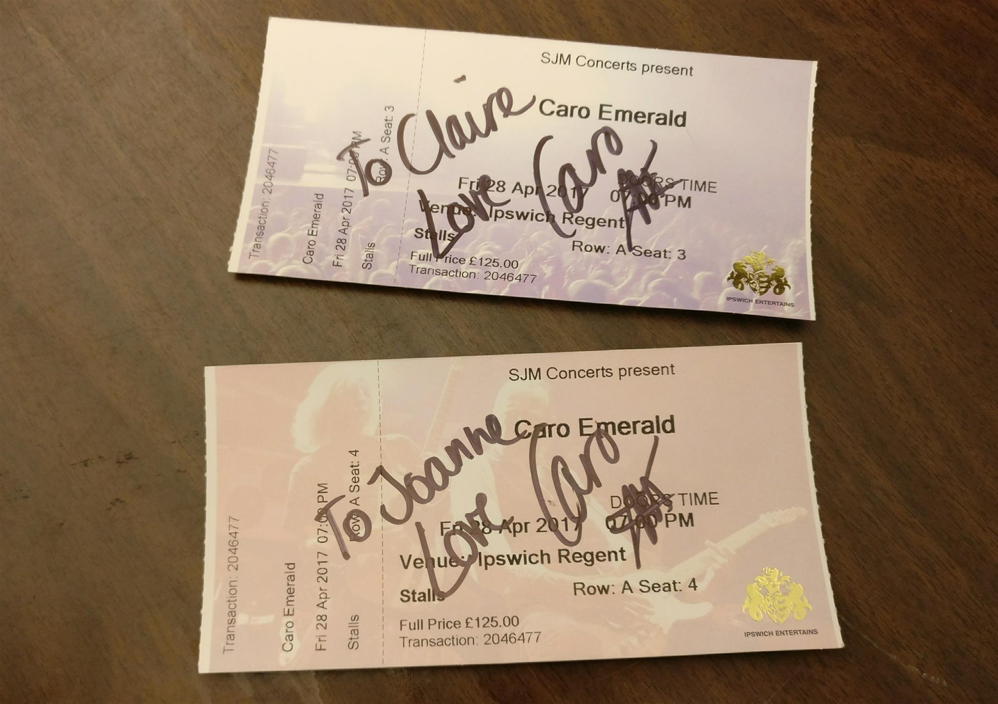 Signed tickets