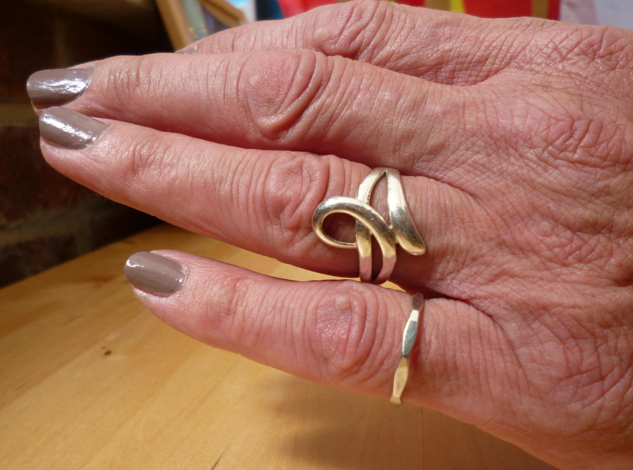 Rings, modelled by Siobhan