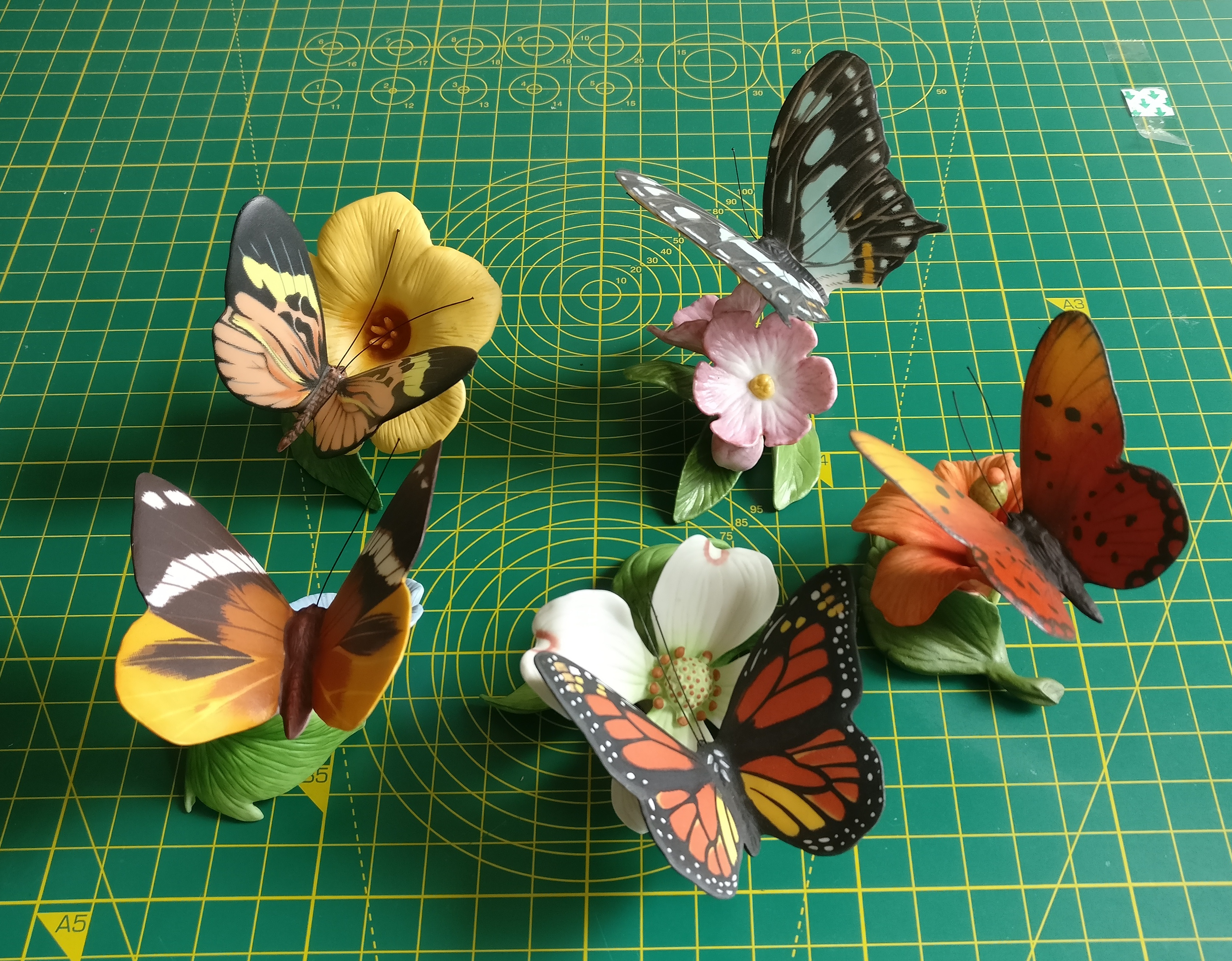 Butterflies by Franklin Mint