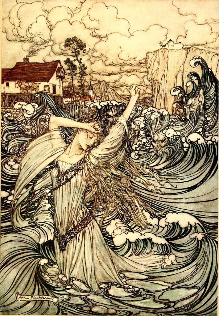 "Illustration by Arthur Rackham from the book ""Undine"""