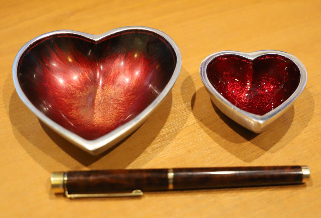 Heart-shaped dish