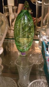 Glass vase by Stuart Akroyd
