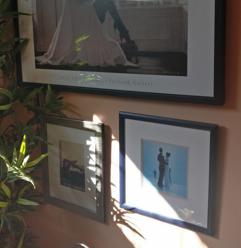 """Dance me to the end of Love"" by Jack Vettriano, in situ"