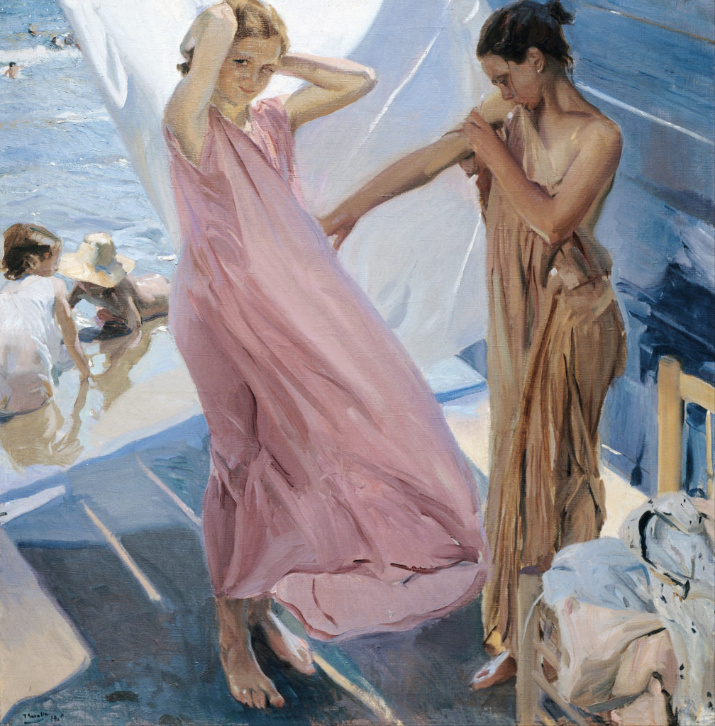 """After Bathing, Valencia"" by Joaquín Sorolla y Bastida"
