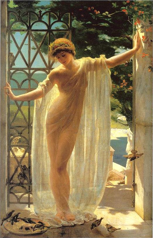 """""""Lesbia"""" by John Reinhard Weguelin"""