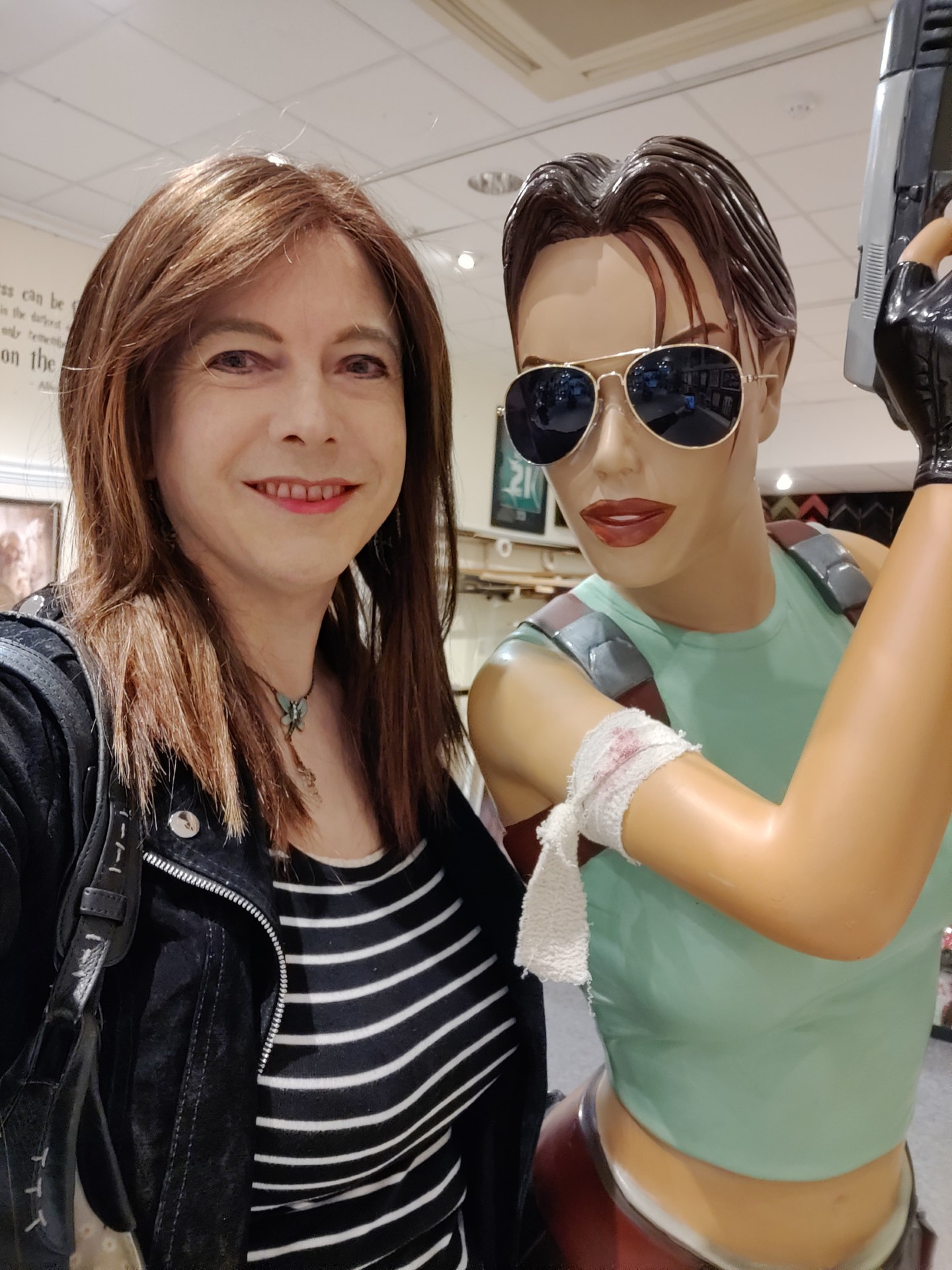 Selfie with Lara Croft