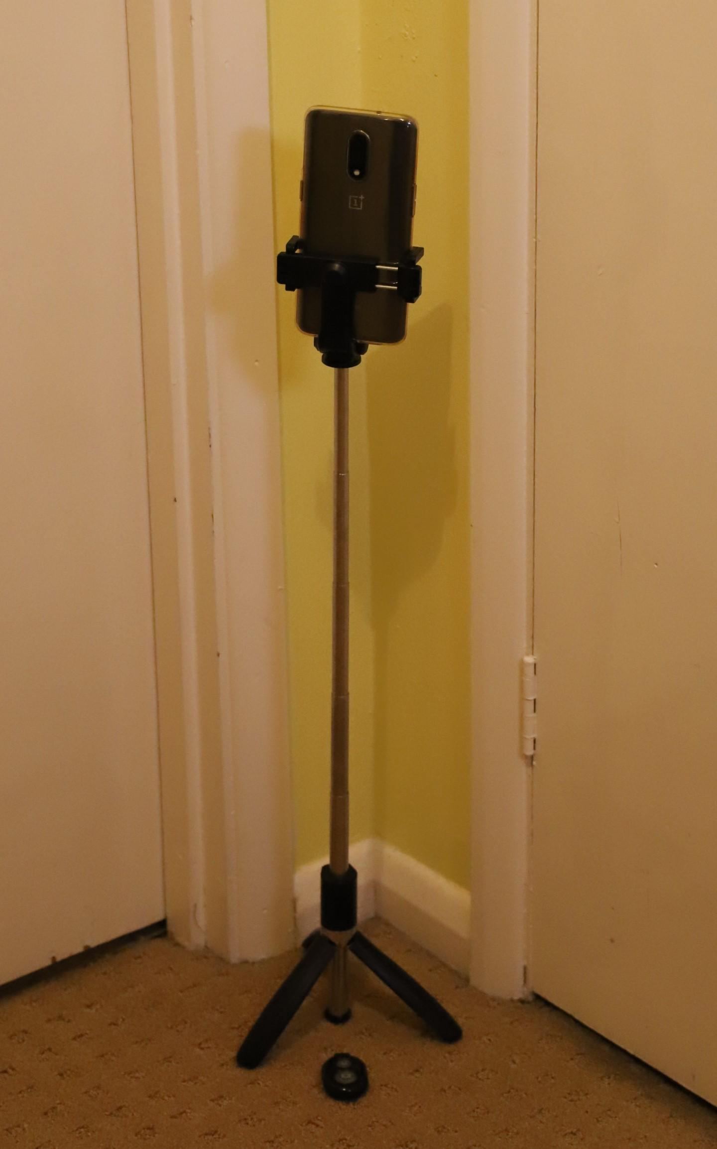 Phone camera + tripod